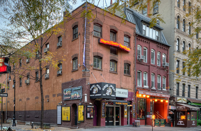 In the early days Bob Dylan used to play at the Cafe Wha, which was a hot spot for folk musicians, hipsters, and beatniks