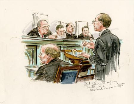 This from artist Arthur Lein from inside the Supreme Court it can be found at http://ssl.folioarchive.com/sendbinary.aspx?customerId=697&sKey=G4K947EV&imageid=472&tp=7A&ispc=4A