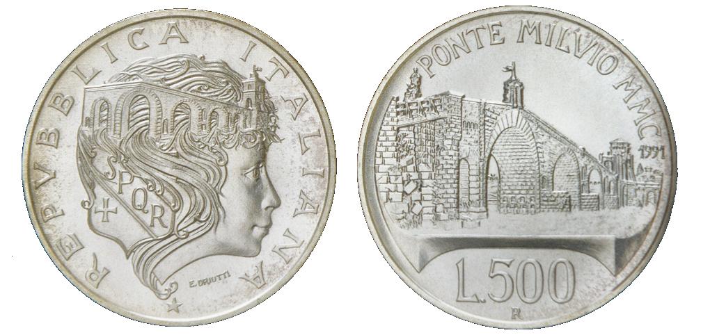 Italy, 500 Lire Silver KM#147 Image