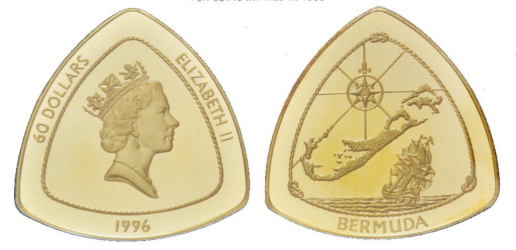 Bermuda, 60 dollars, Gold KM#93 Image