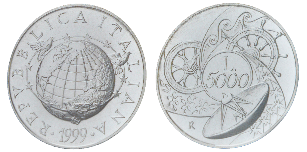 Italy, 5000 Lire, Silver KM#198 Image
