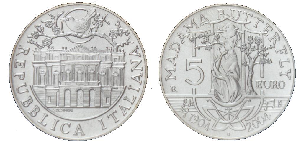Italy 5 Euro Silver KM#239 Image