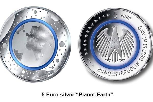 """5 Euro """"Planet Earth"""""""