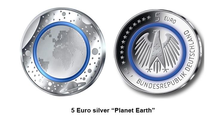 "5 Euro silver ""Planet Earth"""