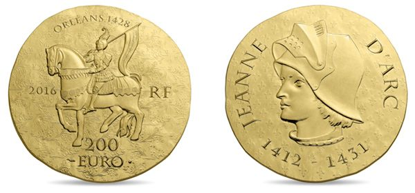 Most Historically Significant Coin France / 200 euros gold / Joan of Arc